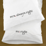 Mr. & Mrs. Right Pillowcase Set