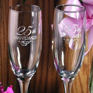 25th Anniversary Toasting Flutes imagerjs