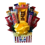 Movie Night Popcorn Candy Bouquet