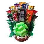 Ceramic Football Candy Bouquet