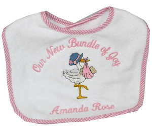 Personalized 'Bundle of Joy' Bib imagerjs