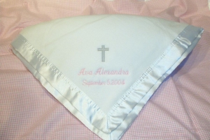 Personalized Christening Blanket imagerjs