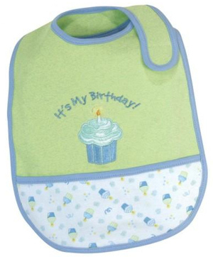 Personalized First Birthday Cupcake Bib imagerjs