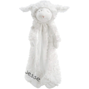 Huggybuddy Personalized Lamb Security Blanket imagerjs