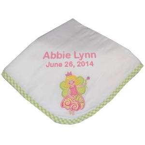 Personalized Fairy Baby Receiving Blanket imagerjs