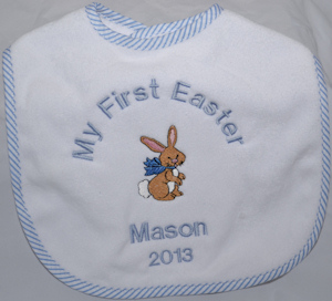 My First Easter Bib (Blue or Pink) imagerjs
