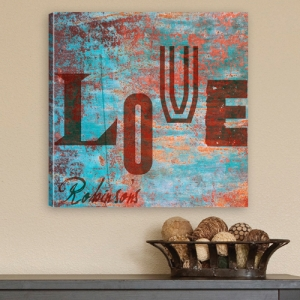 Personalized Watercolor LOVE Canvas Print imagerjs