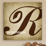 Personalized Family Initial Canvas Print