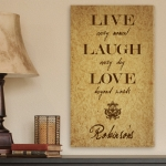 Personalized Live Laugh Love Canvas Print