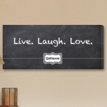 Personalized Blackboard Live Laugh Love Canvas Print