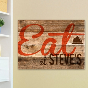 Personalized Reclaimed Kitchen Canvas Eat Print imagerjs