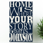 Personalized Where Your Story Begins Canvas