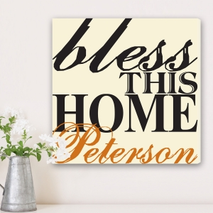 Personalized Bless The Home Canvas Print imagerjs