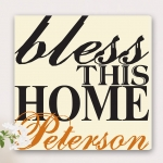 Personalized Bless The Home Canvas Print
