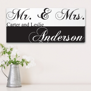 Mr & Mrs Couple's Personalized Canvas Print imagerjs