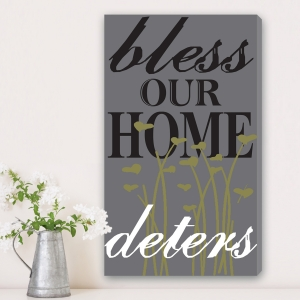 Vertical Bless This Home Canvas Print imagerjs