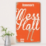 Vertical Family Mess Hall Canvas Print