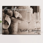 Personalized Anniversary Couples Canvas Print