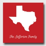 Personalized Family State Canvas (3 Colors)