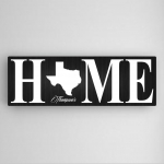 Personalized Family State Canvas Print (2 Colors)
