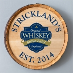 Personalized Whiskey Barrel Sign (6 Designs)
