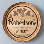 Personalized Cabernet Wine Barrel Home Decor Sign