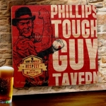 Personalized Tough Guy Tavern Wood Sign