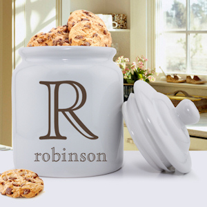 Family Initial Personalized Cookie Jar imagerjs