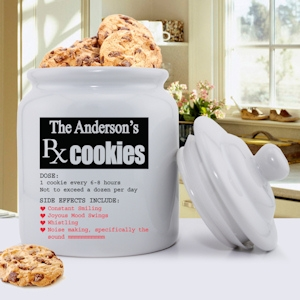 Prescription for Smiles Personalized Cookie Jar imagerjs