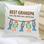 Personalized Grandpa Throw Pillow