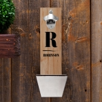 Family Initial Wall Mounted Bottle Opener
