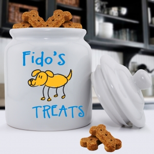 Personalized Ceramic Dog Treat Jar imagerjs