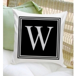 Personalized Initial Throw Pillow (2 Designs)