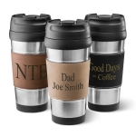 Leatherette Wrapped Stainless Steel Mug (3 Colors)