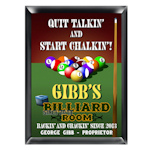 Personalized Billiards Pub Sign