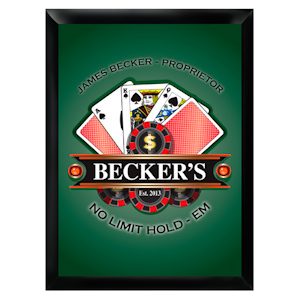 Personalized 'Texas-Hold-Em' Pub Sign imagerjs