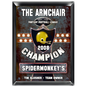 Personalized Fantasy Football Champion Pub Sign imagerjs