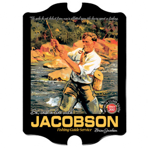 Personalized Vintage Fishing Guide Pub Sign imagerjs