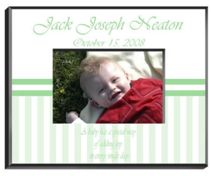 Personalized Baby Frame image