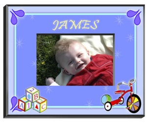 Personalized Blocks Frame (Boy) image