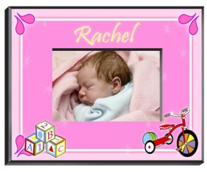 Personalized Blocks Frame (Girl) data-pin-no-hover=