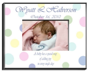 Personalized Baby Polka Dot Frame image