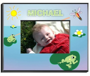 Personalized Frog Frame data-pin-no-hover=