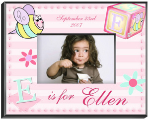 Personalized Girly Bee Frame imagerjs