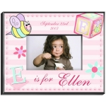 Personalized Girly Bee Frame