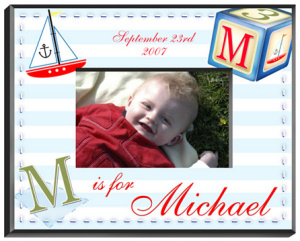 Personalized Sailor Boy Frame imagerjs
