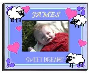 Personalized Counting Sheep Frame (Boy) image