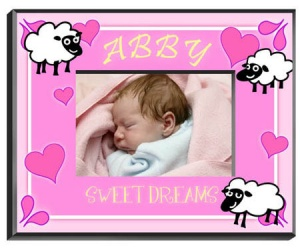 Personalized Counting Sheep Frame (Girl) data-pin-no-hover=
