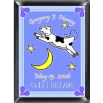 Personalized Cow Jumping Over the Moon Sign (Boy)