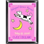 Personalized Cow Jumping Over the Moon Sign (Girl)